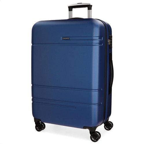 Movom Βαλίτσα μεσαία αυξομειούμενη ABS 68x27x48cm σειρά Galaxy Blue