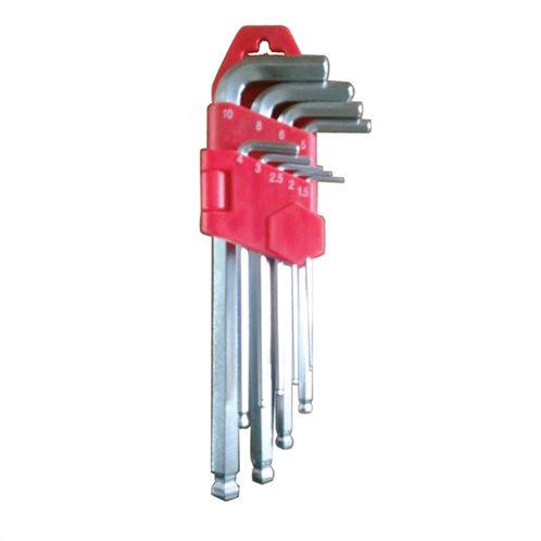 Κλειδιά άλλεν μπίλιας μακριά 1,5-10mm σετ 9τμχ