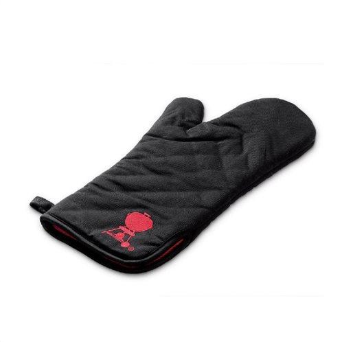 Μαύρο γάντι με κόκκινη ψησταριά Weber