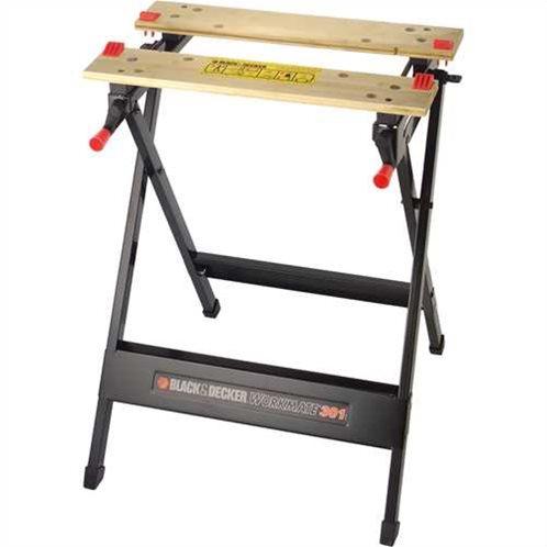 Black & Decker Αναδιπλούμενος πάγκος εργασίας με 1 ρύθμιση ύψους 760mm WM301-XJ