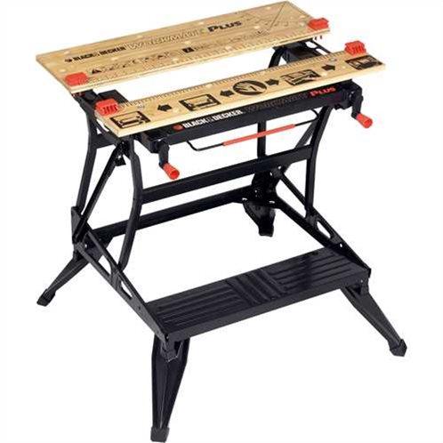 Black & Decker Πάγκος Εργασίας Αναδιπλούμενος Workmate με Κατακόρυφη Συγκράτηση & 2 ρυθμίσεις ύψους 800/620mm WM825-XJ