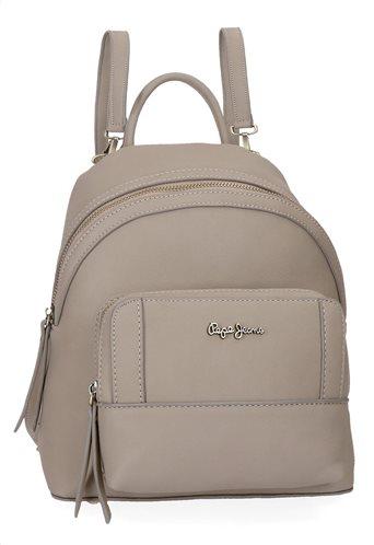 Pepe Jeans Γυναικεία τσάντα πλάτης 24x28x10cm σειρά Karla Beige