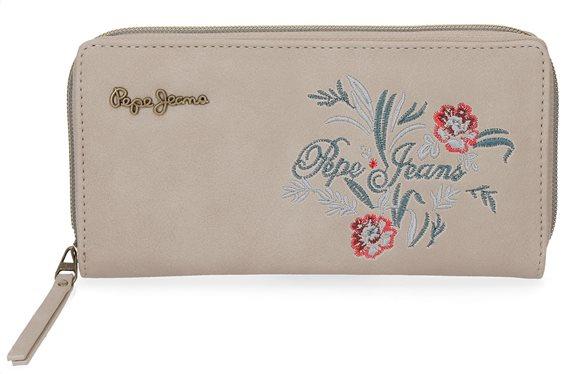Pepe Jeans Γυναικείο πορτοφόλι 18x10x2cm σειρά Lala Beige