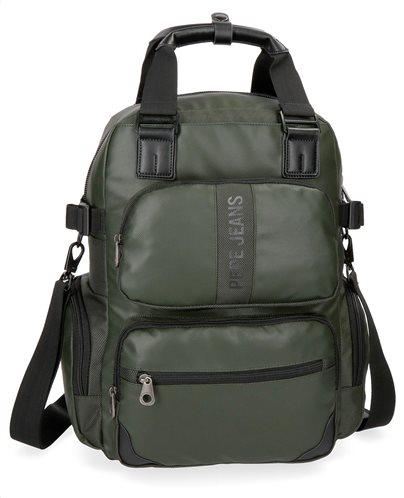 "Pepe Jeans Τσάντα πλάτης με θέση για Laptop 13"" 28x41x16cm Bromley Verde"