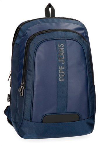 "Pepe Jeans Τσάντα πλάτης 2 θέσεων για Laptop 15,6"" 31x44x20cm Bromley Blue"