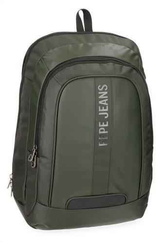 "Pepe Jeans Τσάντα πλάτης 2 θέσεων για Laptop 15,6"" 31x44x20cm Bromley Verde"