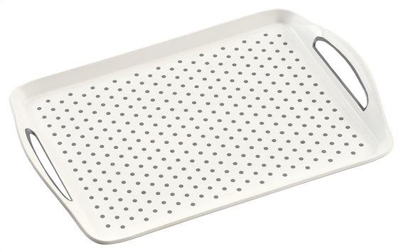 Kesper Δίσκος Αντιολισθητικός Λευκός 45,5x32x4,5cm.