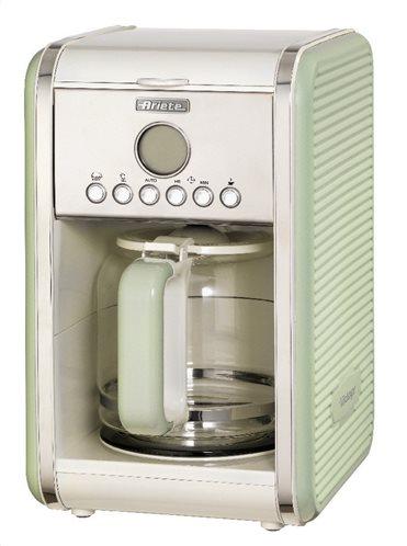Ariete Καφετιέρα Φίλτρου Vintage 1342/03 900W Green (12 φλυτζάνια)