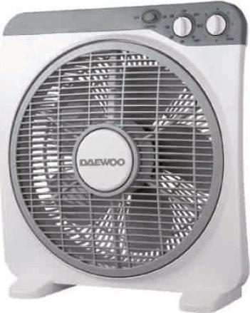 Daewoo Ανεμιστήρας Box Fan 30cm Dcool 12D Λευκός