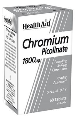 Health Aid Chromium Picolinate 200mg 60 tabs