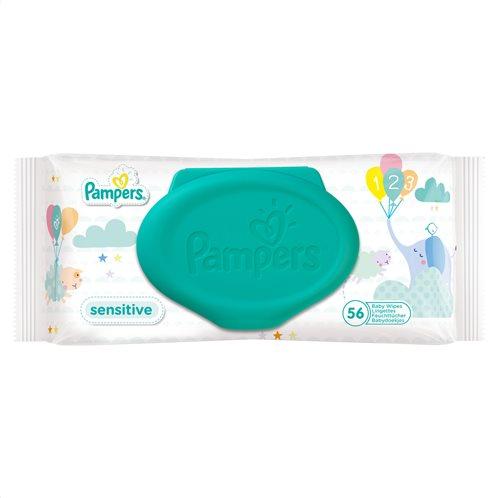 Pampers Μωρομάντηλα Sensitive Μονή Συσκευασία 56 μωρομάντηλων-81553606