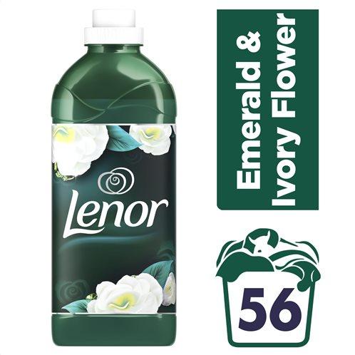 Lenor Μαλακτικό Ρούχων Emerald & Ivory Flower 1400ml – 56 Μεζούρες - 81707858