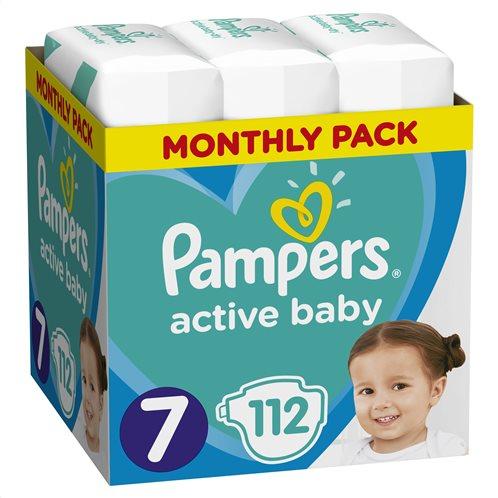 Pampers Active Baby Πάνες Μέγεθος 7 (15+ kg), 112 Πάνες - 81717629