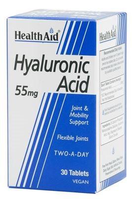 Health Aid Hyaluronic Acid Υαλουρονικό 55mg 30 tabs