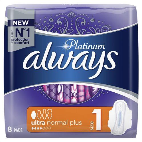 Always Platinum Ultra Normal Plus Mε Φτερά 8 τεμάχια (Μέγεθος 1)-83735085