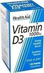Health Aid Vitamin D3 1000iu 120 caps