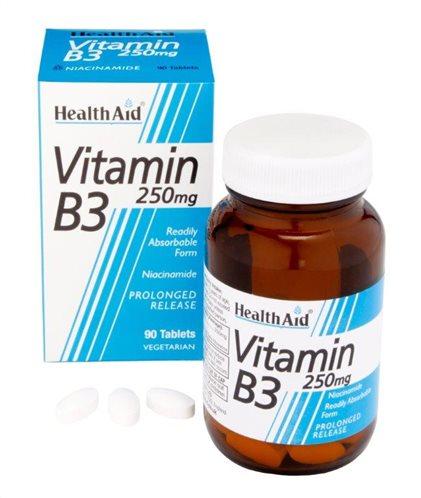Health Aid Vitamin B3 (Niacin) 250mg 90 tabs
