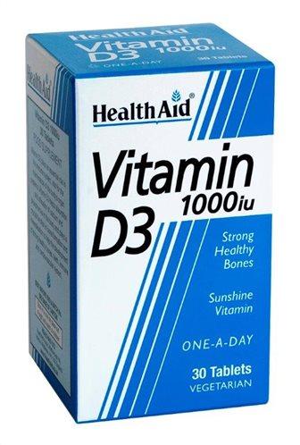 Health Aid Vitamin D3 1000iu 30 tabs