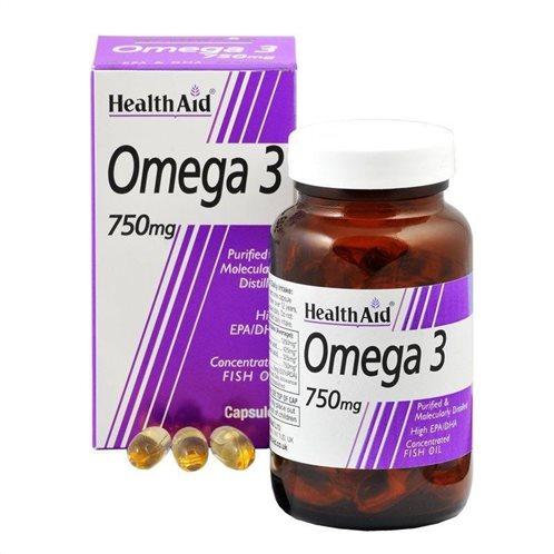 Health Aid Omega 3 750mg (EPA & DHA 750mg) 60 caps