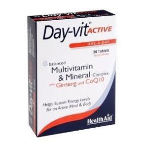 Health Aid Day-Vit Active Plus Co-Q10-Ginseng 30 caps