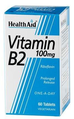 Health Aid Vitamin B2 100mg 60 tabs
