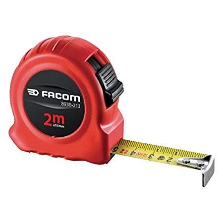 Facom Μέτρο-ρολό 2m με stop διπλής όψεως 893B.213PB