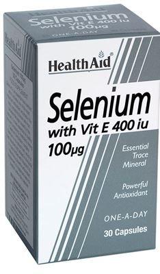 Health Aid Selenium 100mg + Vitamin E 400iu 30 tabs