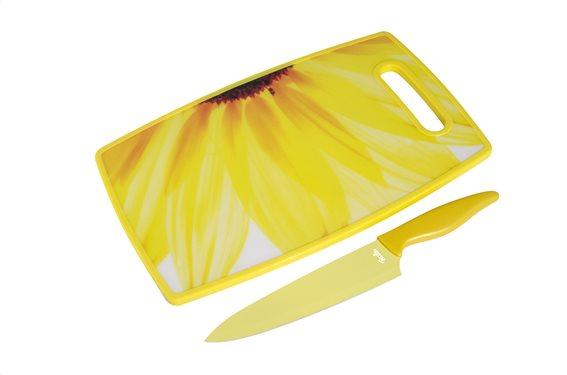 Fissler Βάση κοπής και κεραμικό μαχαίρι σεφ 18cm (Ήλιος) 600001