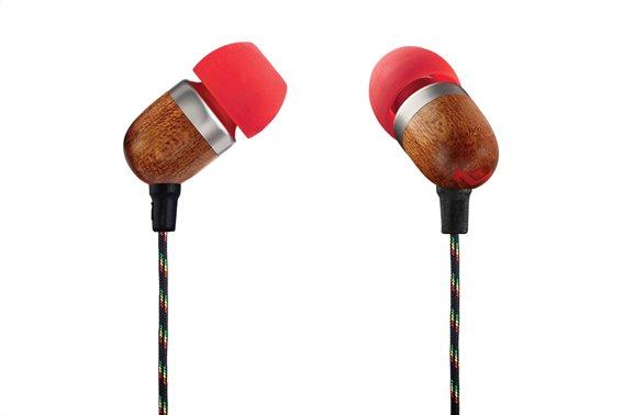 Marley Ακουστικά Ψείρες με Μικρόφωνο in-Ear The House Of Marley Smile Jamaica Mic EM-JE041-FI Fire