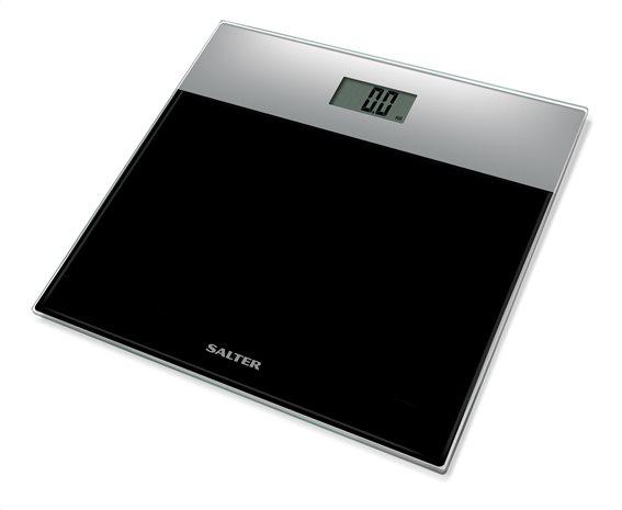 SALTER Ηλεκτρονική Ζυγαριά Μπάνιου 180kg Γυάλινη Ασημί Μαύρη 9206SVBK3R