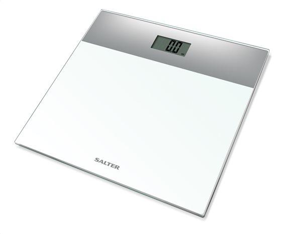 Salter Ηλεκτρονική Ζυγαριά Μπάνιου 180kg Γυάλινη Ασημί Λευκή 9206SVWH3R
