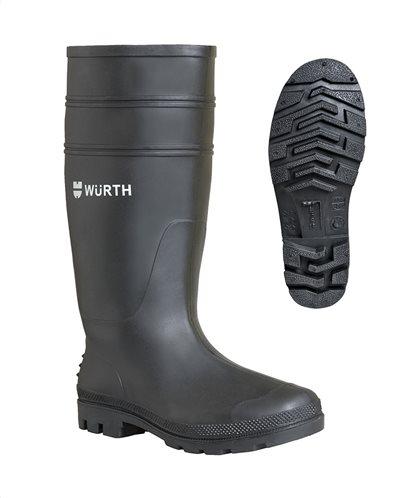 Würth Γαλότσα ασφαλείας O4 pvc μαύρη N.44