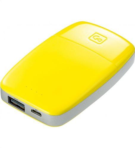 Go Travel Power Bank 4.000mAh Κίτρινο