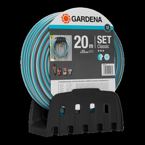 "Gardena Λάστιχο Classic 1/2""- 20m - Σετ με κρεμάστρα & συνδέσμους OGS"