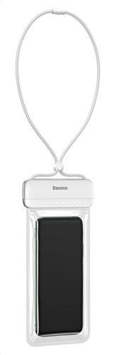 "BASEUS αδιάβροχη θήκη κινητού ACFSD-D02 έως 7.2"" IPX8 λευκή"