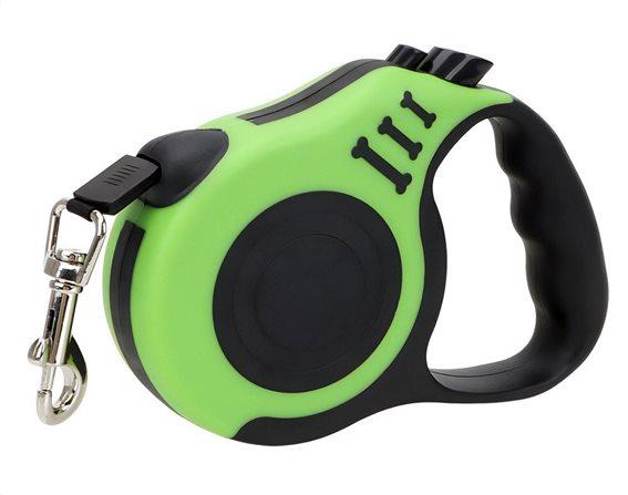 Λουράκι σκύλου με ιμάντα & stop ANM-0004 5m πράσινο
