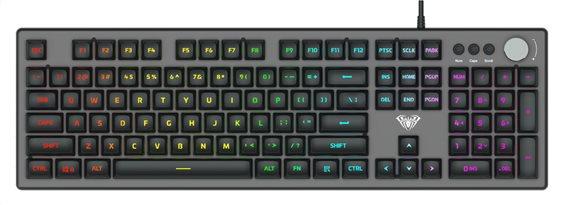 AULA Gaming πληκτρολόγιο F2028 RGB μαύρο-γκρι