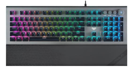 AULA Gaming πληκτρολόγιο Forest L2098 RGB blue switch μαύρο-γκρι