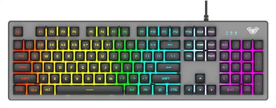 AULA Gaming πληκτρολόγιο S2056 RGB μαύρο-γκρι