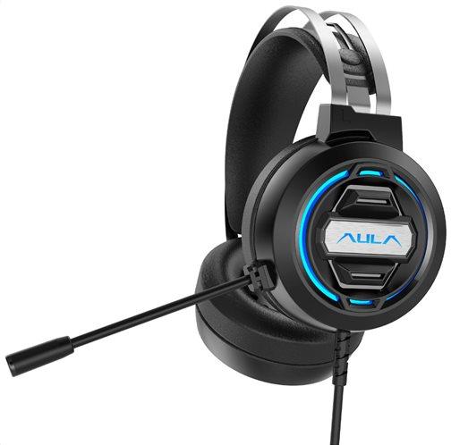 AULA gaming headset S603USB RGB USB/3.5mm 50mm μαύρο