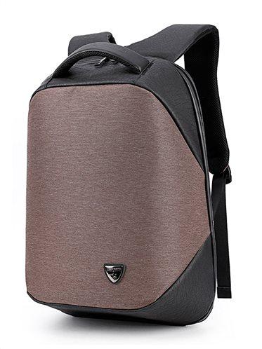 ARCTIC HUNTER τσάντα πλάτης B00193-COF με θήκη laptop αδιάβροχη καφέ