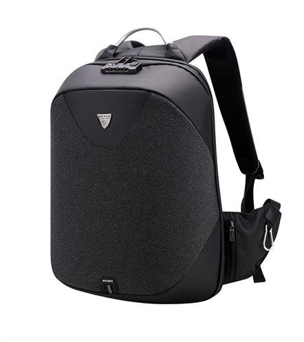 ARCTIC HUNTER τσάντα πλάτης B00208-BK με θήκη laptop αδιάβροχη μαύρη