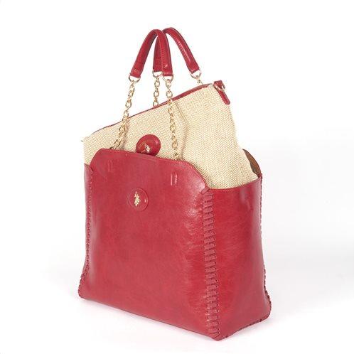 US Polo Assn. Τσάντα Ώμου 31x26x14cm Benton Red