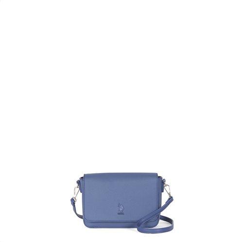 US Polo Assn. Τσάντα Crossbody με καπάκι 22x6x14cm Portsmouth Blue