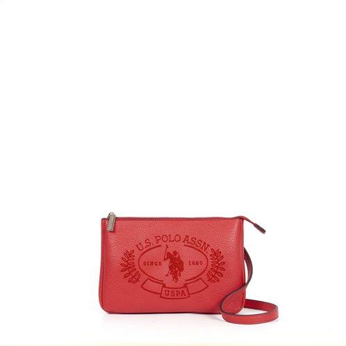 US Polo Assn. Τσάντα crossbody Hailey 24,5x2x16cm Κόκκινη