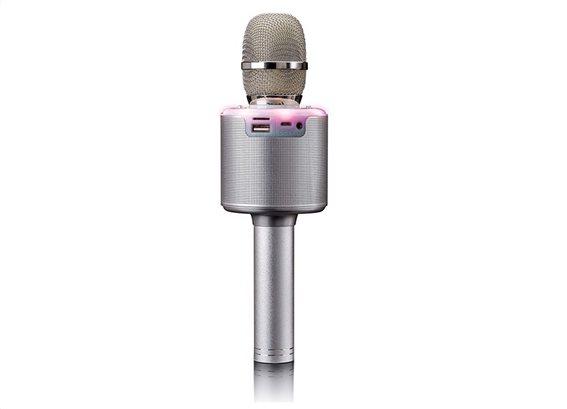 Lenco BMC-085 Silver Karaoke Microphone με Bluetooth