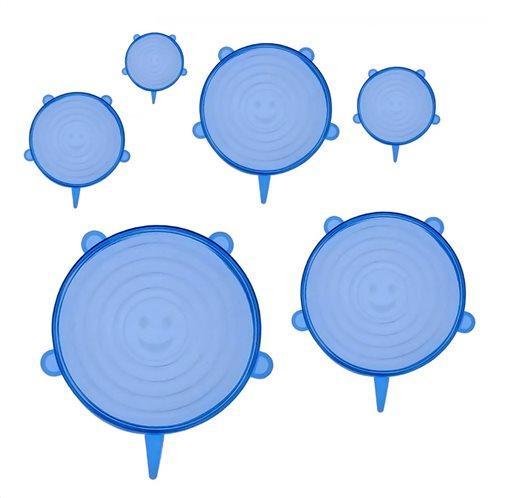 BRUNO σετ σιλικονούχων καπακιών για δοχεία τροφίμων BRN-0044 6τμχ μπλε