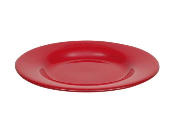 Casa Domani Πιάτο Φαγητού Κεραμικό Κόκκινο 28cm. Portofino