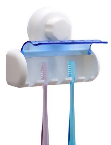 Βάση αποθήκευσης για 5 οδοντόβουρτσες CLN-0023 με βεντούζα λευκό
