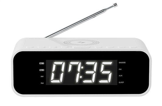 THOMSON Ξυπνητήρι CR255I FM ασύρματη φόρτιση dual alarm λευκό